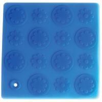 Прихватка подставка 'Цветы' Linea Silicone 17,8х17,8 см Regent Inox 93-SI-CU-04.2