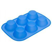 Форма для кексов 6 ячеек 26х18х2,5 см Linea Silicone Regent Inox 93-SI-FO-110