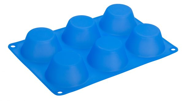 Форма для кексов 6 ячеек 24,5х16,5х3,5 см Linea Silicone Regent Inox 93-SI-FO-111