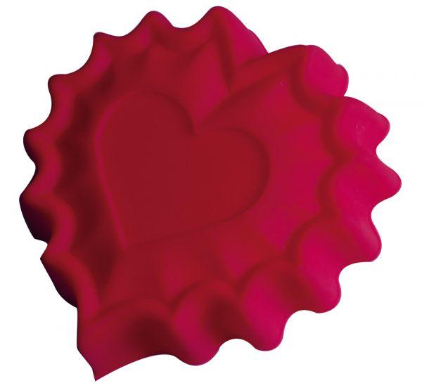 Форма для выпечки 'Валентинка' Linea Silicone 25,5х24х3,5 см Regent Inox 93-SI-FO-40