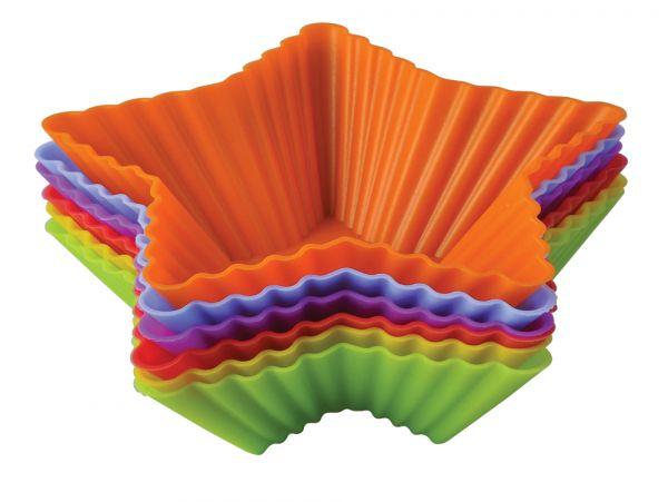 Набор форм для выпечки 'Тарталетки-звезды' 10х3,5 см Linea Silicone Regent Inox 93-SI-S-17.1