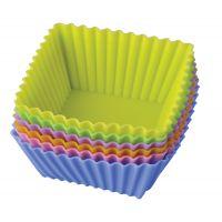 Набор форм для выпечки 'Тарталетки квадратные' 7х3,5 см Linea Silicone Regent Inox 93-SI-S-17.4