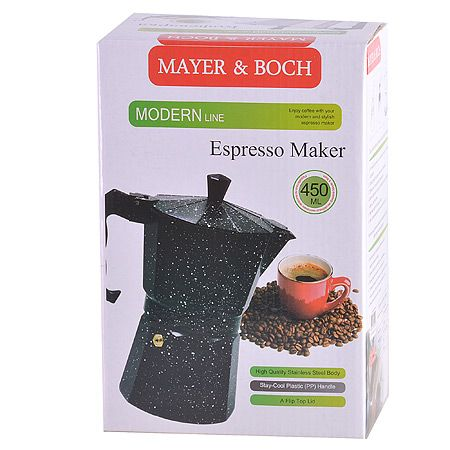 Кофеварка-гейзер Mayer&Boch 450 мл материал алюминий 29688
