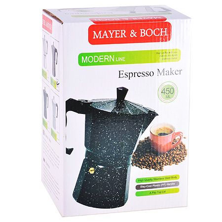 Кофеварка-гейзер Mayer&Boch 300 мл материал алюминий, ручка из пластика 29693