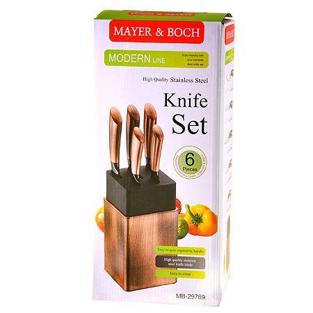 Набор ножей Mayer&Boch 6 предмета с подставкой 29769
