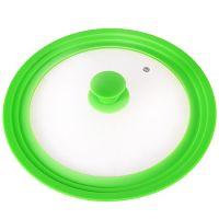 Крышка Mayer&Boch универсальная 24-26-28 см материал силикон и стекло цвет зелёный 24873-Г5
