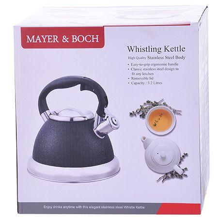 Чайник Mayer&Boch 3,2 л металлический со свистком цвет бордовый 29462
