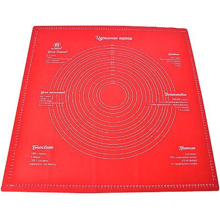 Коврик Mayer&Boch 70x70 см из силикона цвет красный 22086-1