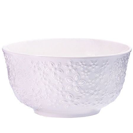 Набор салатниц Loraine 3 шт из керамики цвет белый 29604
