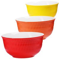 Набор салатниц Loraine 3 предмета разноцветные 29605