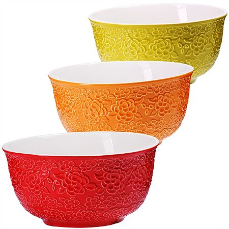 Набор салатниц Loraine 3 предмета материал керамика разноцветные 29606