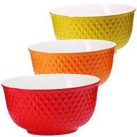 Набор салатниц Loraine керамика 3 предмета разноцветные 29607