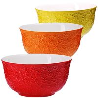 Набор салатниц Loraine 3 шт материал керамика разноцветные 29609