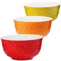 Набор салатниц Loraine 3 шт материал керамика цвет красный, оранжевый, желтый 29610