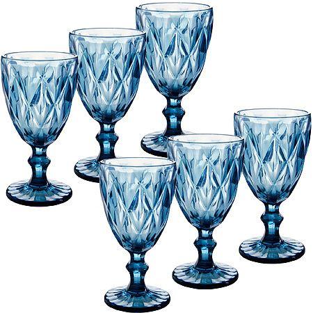 Набор бокалов Loraine 337 мл цвет синий 29673