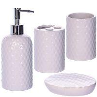 Набор для ванной комнаты Mayer&Boch 4 предмета белого цвета в подарочной упаковке 29833