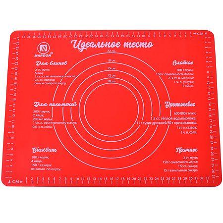 Коврик Mayer&Boch 30x40 см из силикона цвет красный 22085-1