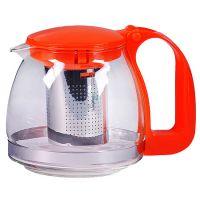 Чайник заварочный Mayer&Boch 700 мл из стекла с оранжевой ручкой и крышкой 29947-2