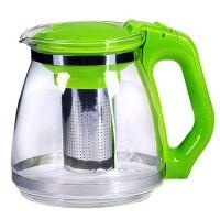Чайник заварочный Mayer&Boch 1,5 л с зеленой ручкой и крышкой 29949-2
