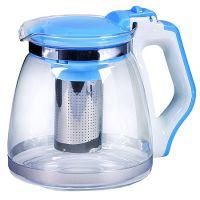 Чайник заварочный Mayer&Boch 1,8 л из стекла с синей ручкой и крышкой 29950-1