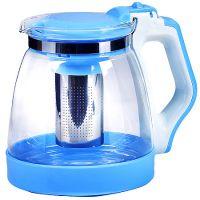 Чайник заварочный Mayer&Boch 1,8 л из термостойкого стекла с синей ручкой и крышкой 29951-1