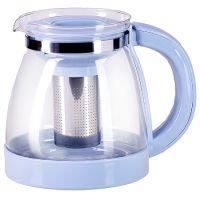 Чайник заварочный Mayer&Boch 1,8 л из термостойкого стекла с зеленой ручкой и крышкой 29952-1