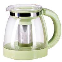 Чайник заварочный Mayer&Boch 1,8 л из стекла с оливковой ручкой и крышкой 29952-2
