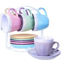 Чайный сервиз LORAINE 13 предметов 200 мл на металлической подставке разноцветные 29900