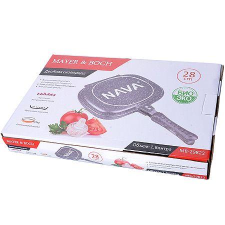 Сковорода-двойная Mayer&Boch 1,6 л 28 см материал литой алюминий 29822