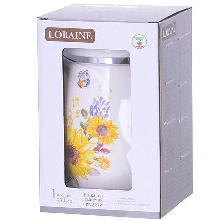 Банка для сыпучих продуктов LORAINE 930 мл 30303
