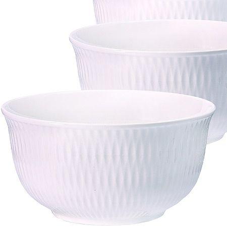 Набор салатниц Loraine 3 предмета керамические цвет белый 29599