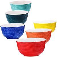 Набор салатниц Loraine 6 предметов круглые 450 мл разноцветные 29629