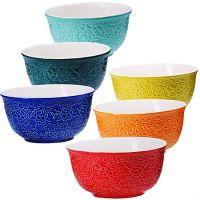 Набор салатниц Loraine 6 предметов 450 мл разноцветные 29630