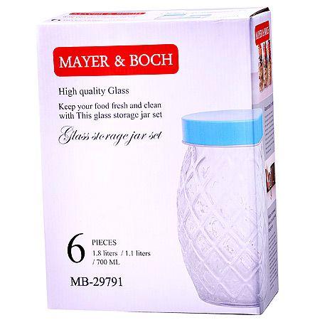 Набор банок Mayer&Boch 6 предметов 700 мл, 1,1 л, 1,8 л 29791