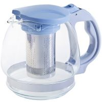 Чайник заварочный Mayer&Boch синий 1,5 л стекло 29717-1