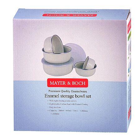 Набор мисок Mayer&Boch 5 шт материал эмаль с крышкой 29492
