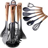 Набор кухонных принадлежностей Mayer&Boch 6 предметов с нейлоновыми ручками и подставка 29522