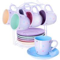 Чайный сервиз LORAINE 13 предметов 200 мл на подставке 29886