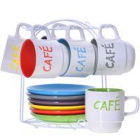 Чайный сервиз 13 предметов LORAINE 250 мл на подставке 29888