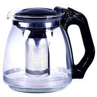 Чайник заварочный Mayer&Boch 1,5 л из стекла с черной ручкой и крышкой 29949