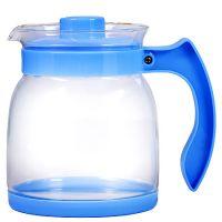 Чайник заварочный Mayer&Boch 1,5 л материал стекло с синей ручкой и крышкой 29954