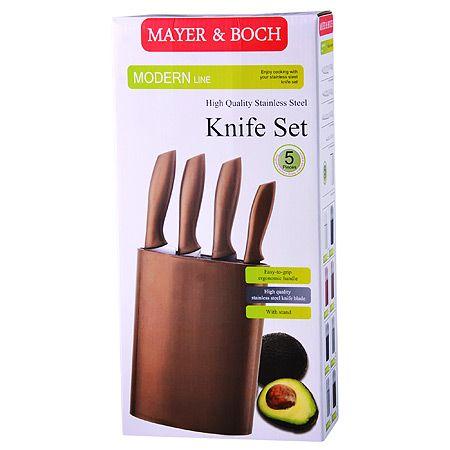 Набор ножей Mayer&Boch 4 предмета и подставка цвет красный 29656