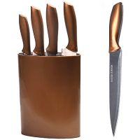 Набор ножей Mayer&Boch 4 предмета и подставка цвет коричневый 29657