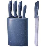 Набор ножей Mayer&Boch 4 предмета и подставка цвет темно-серый 29659