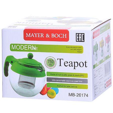 Заварочный чайник Mayer&Boch 750 мл стеклянный 26174