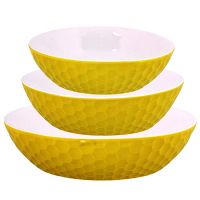 Набор салатниц Loraine 3 предмета круглые цвет желтый 29565