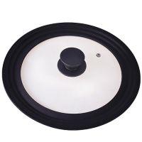 Крышка Mayer&Boch универсальная 20-22-24 см материал силикон и стекло цвет чёрный 24873-Б2