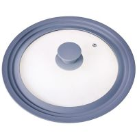 Крышка Mayer&Boch универсальная 20-22-24 см материал силикон и стекло цвет серый 24873-Б4