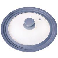 Крышка Mayer&Boch универсальная 24-26-28 см материал силикон и стекло цвет серый 24873-Г4