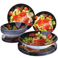 Набор стеклянных тарелок LORAINE 19 шт 28332